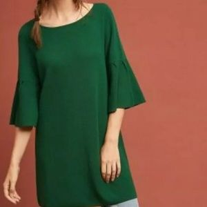 Anthropologie Moth Green XS Chester Dress Tunic